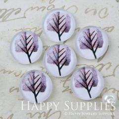 10pcs 12mm Tree Handmade Photo Glass Cabochon GC12-1177