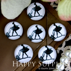 10pcs 12mm Ballet Handmade Photo Glass Cabochon GC12-268