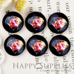 10pcs 12mm diamond Handmade Photo Glass Cabochon GC12-917