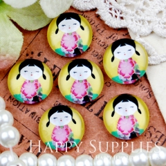 10pcs 12mm Doll Handmade Photo Glass Cabochon GC12-419