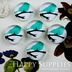 10pcs 12mm Bird Handmade Photo Glass Cabochon GC12-072