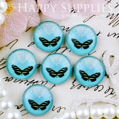 10pcs 12mm Butterfly Handmade Photo Glass Cabochon GC12-441