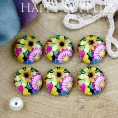 10pcs 12mm Flower Handmade Photo Glass Cabochon GC12-819