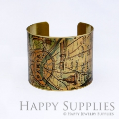 1pcs Paris City Handmade Photo Brass Cuff Bracelet PBC015