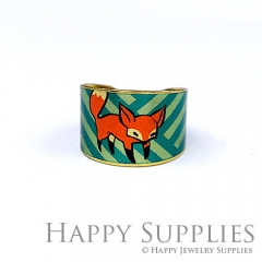 1pcs Fox Handmade Photo Brass Ring PR112
