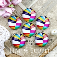 10pcs 12mm Geometric Colorful Handmade Photo Glass Cabochon GC12-881