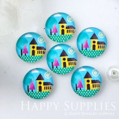 10pcs 12mm House Handmade Photo Glass Cabochon GC12-1027
