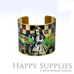 1pcs Girl Handmade Photo Brass Cuff Bracelet PBC117