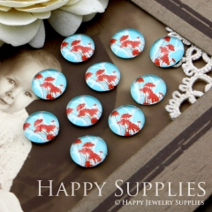 10pcs 12mm Tree Handmade Photo Glass Cabochon GC12-089