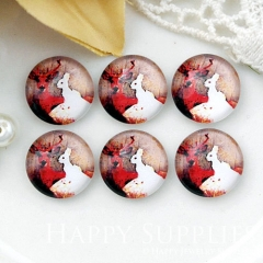 10pcs 12mm Rabbit Goat Handmade Photo Glass Cabochon GC12-1021