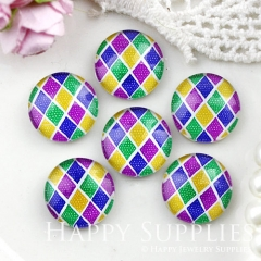 10pcs 12mm Colorful Geometric Handmade Photo Glass Cabochon GC12-874
