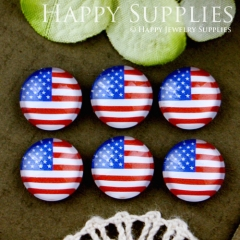 10pcs 12mm National flag Handmade Photo Glass Cabochon GC12-533