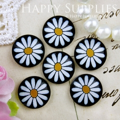 10pcs 12mm Flower Handmade Photo Glass Cabochon GC12-731