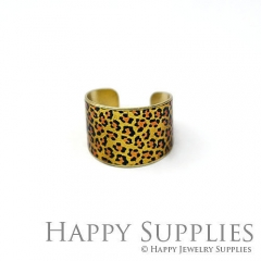 1pcs Leopard Handmade Photo Brass Ring PR101