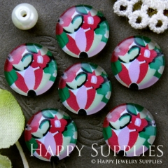 10pcs 12mm Flower Handmade Photo Glass Cabochon GC12-665
