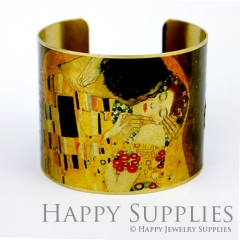 1pcs Woman Handmade Photo Brass Cuff Bracelet PBC031