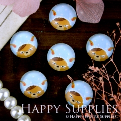 10pcs 12mm Dog Handmade Photo Glass Cabochon GC12-277