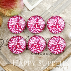 10pcs 12mm Leaf Flower Handmade Photo Glass Cabochon GC12-875