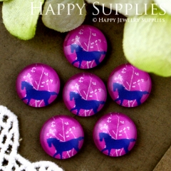10pcs 12mm Horse Handmade Photo Glass Cabochon GC12-547