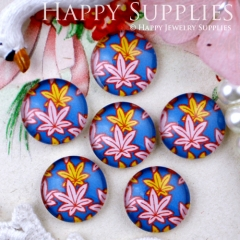 10pcs 12mm Leaves Handmade Photo Glass Cabochon GC12-295