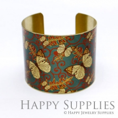 1pcs Butterfly Handmade Photo Brass Cuff Bracelet PBC063