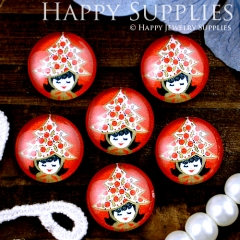 10pcs 12mm Woman Handmade Photo Glass Cabochon GC12-294