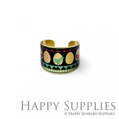 1pcs Bird Handmade Photo Brass Ring PR097