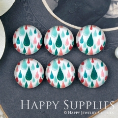 10pcs 12mm Teardrop Handmade Photo Glass Cabochon Glass Bead GC12-1288