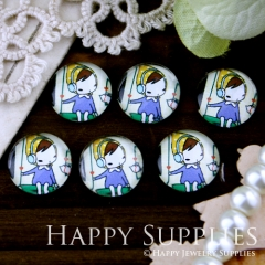 10pcs 12mm Child Handmade Photo Glass Cabochon GC12-245
