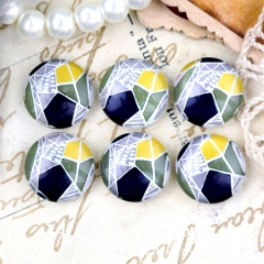 10pcs 12mm Geometric Figure Handmade Photo Glass Cabochon GC12-1257