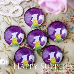 10pcs 12mm squirrel Handmade Photo Glass Cabochon GC12-563