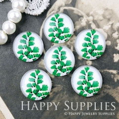 10pcs 12mm Leaf Leaves Handmade Photo Glass Cabochon GC12-1071