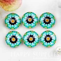 10pcs 12mm Flower Handmade Photo Glass Cabochon GC12-901