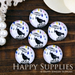 10pcs 12mm Bird Handmade Photo Glass Cabochon GC12-1260
