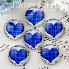 10pcs 12mm Heart Handmade Photo Glass Cabochon GC12-654