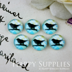 10pcs 12mm Bird Handmade Photo Glass Cabochon GC12-027