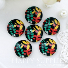 10pcs 12mm Leaf Leaves Colorful Handmade Photo Glass Cabochon GC12-1011