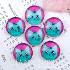10pcs 12mm Cat Handmade Photo Glass Cabochon GC12-1149