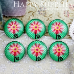10pcs 12mm Flower Handmade Photo Glass Cabochon GC12-811