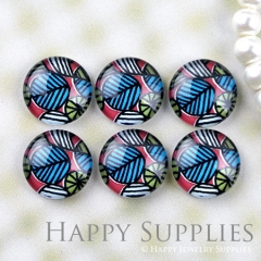 10pcs 12mm Leaves Handmade Photo Glass Cabochon GC12-1218