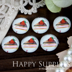 10pcs 12mm Cake Handmade Photo Glass Cabochon GC12-247