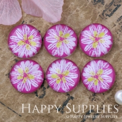 10pcs 12mm Flower Handmade Photo Glass Cabochon GC12-1097