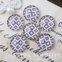 10pcs 12mm Geometric Handmade Photo Glass Cabochon GC12-1031