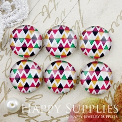 10pcs 12mm Geometric Colorful Triangle Handmade Photo Glass Cabochon GC12-892