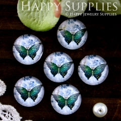 10pcs 12mm Butterfly Handmade Photo Glass Cabochon GC12-574