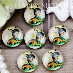 10pcs 12mm Deer Handmade Photo Glass Cabochon GC12-410