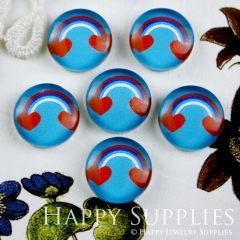 10pcs 12mm Heart Cloud Handmade Photo Glass Cabochon GC12-076