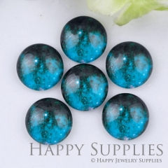 10pcs 12mm Space Blue Handmade Photo Glass Cabochon GC12-1114