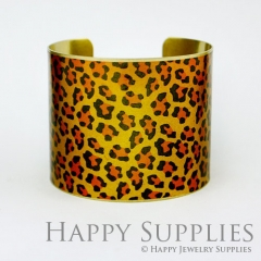 1pcs Leopard Handmade Photo Brass Cuff Bracelet PBC039