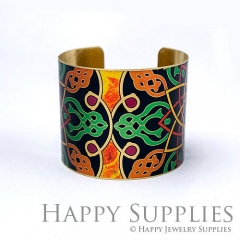 1pcs Decorative pattern Handmade Photo Brass Cuff Bracelet PBC106